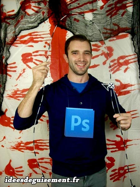 Halloween costume of Adobe Photoshop