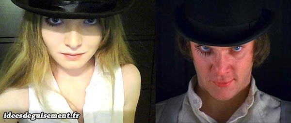 Costume of Alex from Clockwork Orange - Letter A