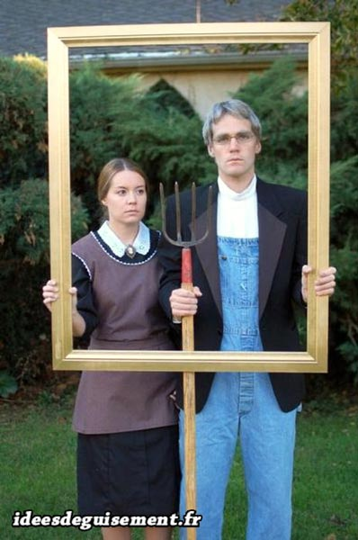Halloween costume  of American Gothic Painting