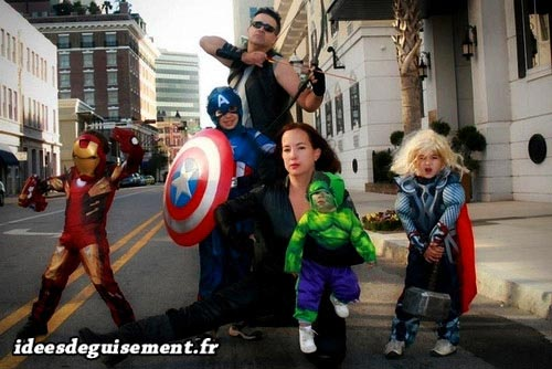 Fancy dress of the Avengers - Letter A