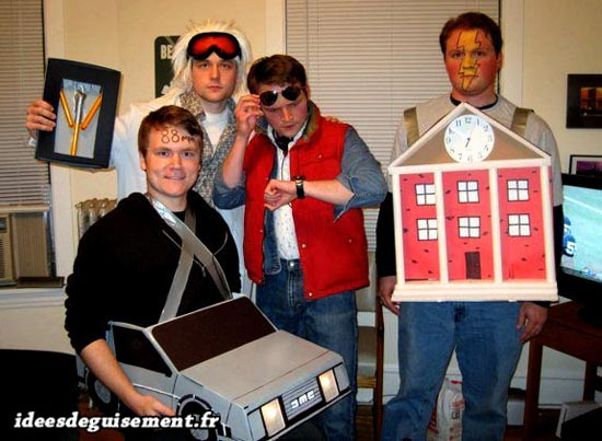 Fancy dress costume of the movie Back to the future