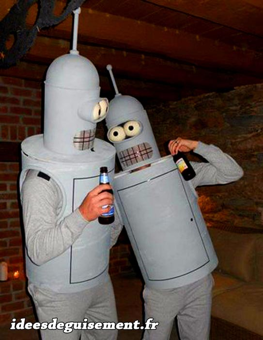 Fancy dress costume of Bender Futurama