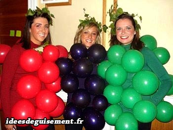 Costume of bunch of grapes fruit