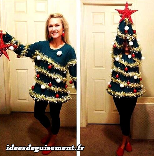 Low cost costume of Christmas Tree