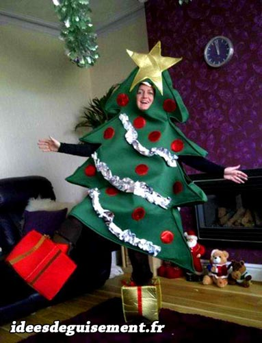 Costume of  Christmas Tree Gift Presents
