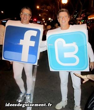 Costume of Facebook Logo - Letter F