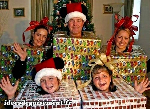 Christmas costume of Family Gifts Presents