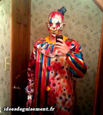 Fancy dress of Horror Clown - Letter H