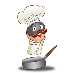 Costume idea of chef in a pan