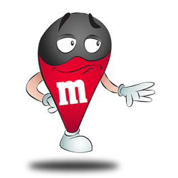 Costume idea of M&M's rouge