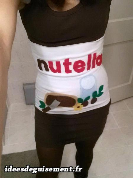 Costume of Jar of Nutella - Letter J