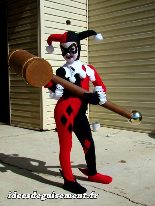 Fancy dress of Joker Harley Quinn - Letter J