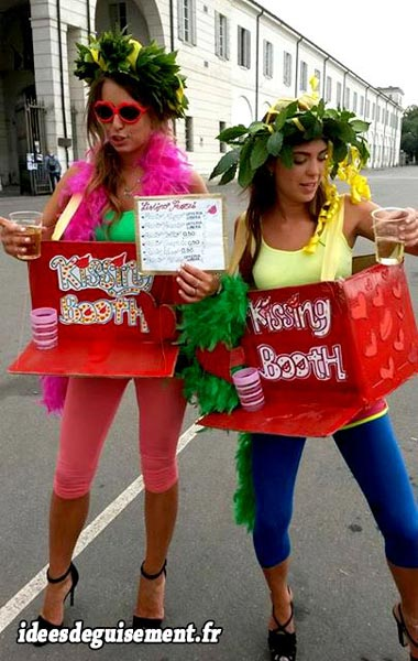 Costume of Two Girls Kissing Booth