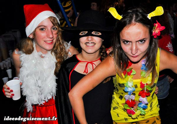 Costume of Mother ChristmasZorro and Marsupilami  sc 1 st  Fancy Dress and Costume Ideas : three girl costume ideas  - Germanpascual.Com