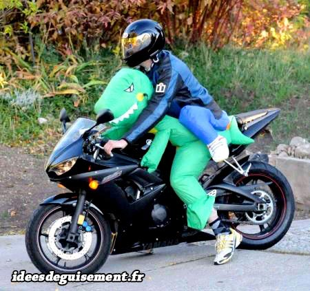 Costume of Motorcyclist - Letter M