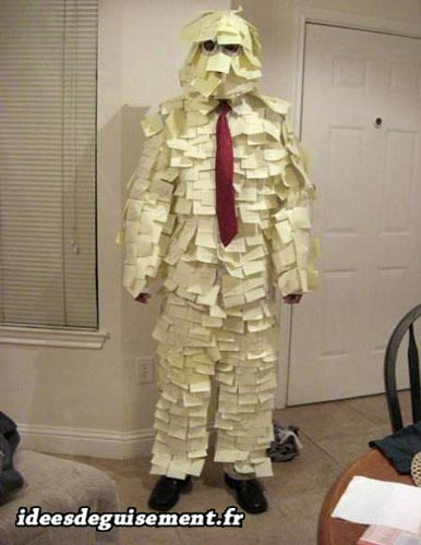 Original costume of post it man