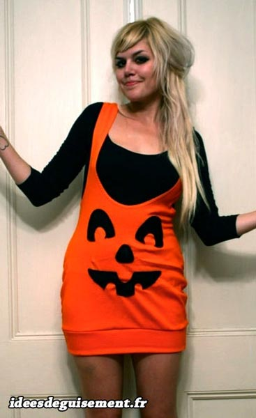 Costume of Halloween Pumpkin - Letter H