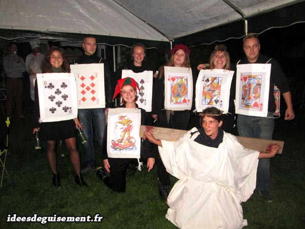 Original costume of Cards and Jesus Christ