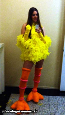 Easter costume of Sexy Yellow Chick