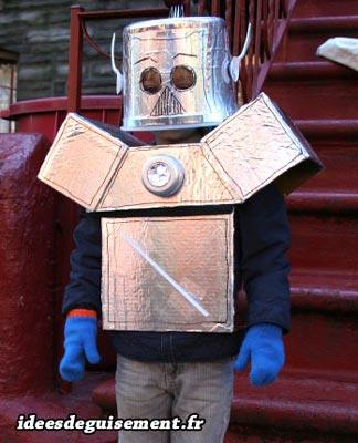 Costume of Futuristic Robot - Letter R