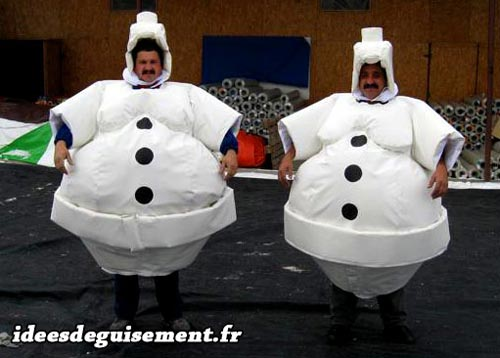 Costume of Snowman - Letter S