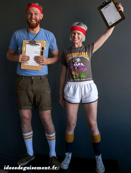 Couple costume of Sports Instructor