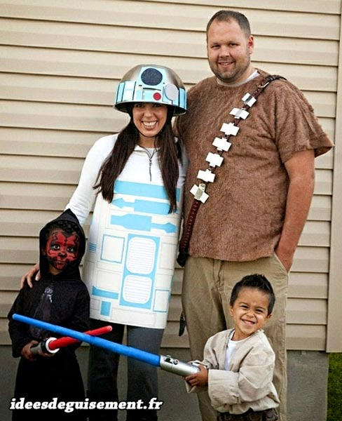 Costume of Star Wars Family