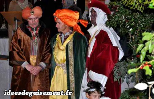 Christmas costume of The Three Magi Wise Men
