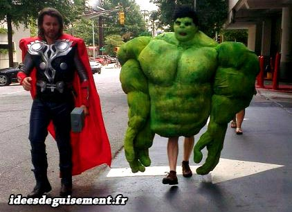 Costume of Thor and Hulk