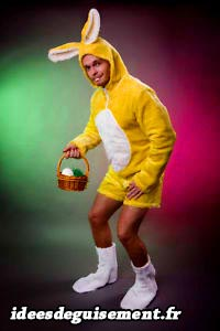 Costume of Easter Yellow Rabbit