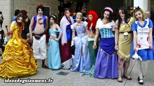Costume of Zombie Disney Princesses