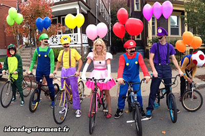 Unusual fancy dress of Mario Kart balloon