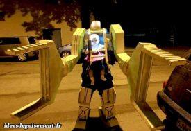 Halloween costume of Robot with Baby
