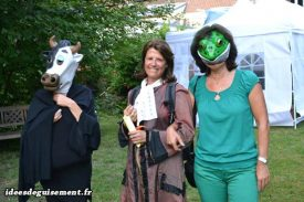 Costume of Cow,Frog and Jean de la Fontaine