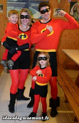 Fancy dress of Indestructibles Family
