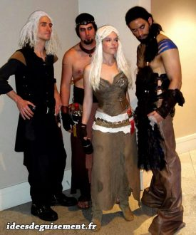 Costume of Khaleesi, Visery, Khal Drogo and Jorah Mormont
