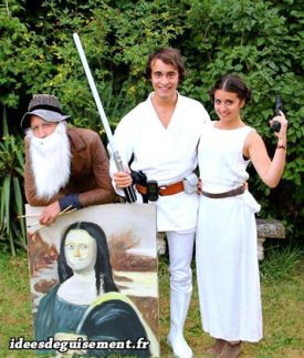 Fancy dress of Luke & Leia Skywalker