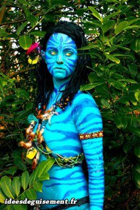 Fancy dress of Neytiri from Avatar