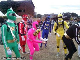 Fancy dress of Power Rangers