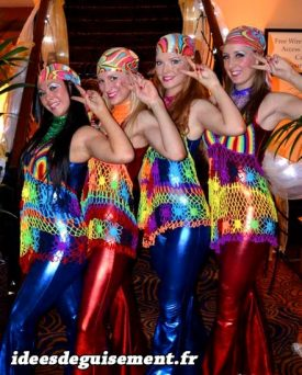 Costume of 1980's and 1990's Disco Colors